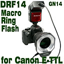 Emoblitz DRF14C Autofocus TTL Digital Macro Ring Flash for Canon E-TTL II 600D 60D