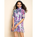 Ts half mouw chiffon Print Jurk