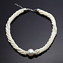 Fantastic Ivory Alloy And Imitation Pearl Jewelry Set Including Necklace
