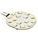 G4 2.5W 15x5050SMD 180-210LM 6000-6500K Natural White Light LED Spot Bulb (12V)