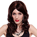 Capless High Quality Synthetic Long Curly Brown Hair Wigs