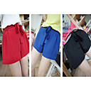 Women's Belted Solid Color Shorts