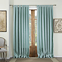 (Two Panels) Contemporary Jacquard Energy Saving Curtains