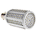 B22 8W 180-LED 460-510LM 7000-7500K Cold White Light LED Corn Bulb (85-265V)