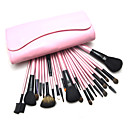 23Pcs Professional High Quality Pink Cosmetic Brush with Free Leather Case