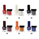 Velvet Nail Art Set No.1-6 (1PCS Builder Coat Smalto +1 Velvet Nail Decoration, colori assortiti)