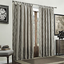 (Two Panels) Modern Jacquard Curve Energy Saving Curtains