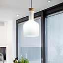 40W Modern Pendant Light with Glass Shade in Flask Design