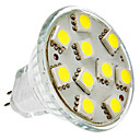 MR11 2W 10x5050SMD 120-150LM 6000-6500K Natural White LED Bulb Pontual (12V)