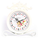 Country Roses Metal Table Clock
