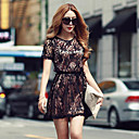 SZGood Lace Round Neck Short Sleeve Dress