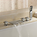 Sprinkle by Lightinthebox - Brass Waterfall Tub Faucet with Hand Shower (Chrome Finish)