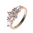 Pretty Copper Alloy CZ Rings