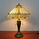 60W Classic Tiffany Glass Light with Resin Stand