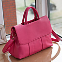 Lady's Fashion Simple Classic Solid Color Tote