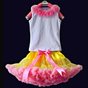 Flowers Tops With Matching PettiDress Set Cotton/Tulle Flower Girl Dress
