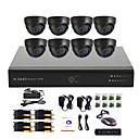 8 Channel CCTV DVR System(8 Indoor Dome Camera,PTZ Control)