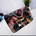 Women's Fashion Vintage Chain Floral Print Tote(Pattern Varies)