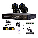 4 Channel One-Touch in linea sistema del CCTV DVR (4 telecamera Dome Indoor con Sony CCD)