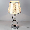 40W Contemporary Table Light with Elegant Beautiful Pattern Flowers Fabric Shade Crystal Decor