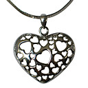 Charming 925 Sterling Silver Pendant With Some Heart Shape Design (FMR035)